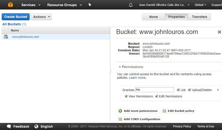 AWS CloudFront screenshot 6
