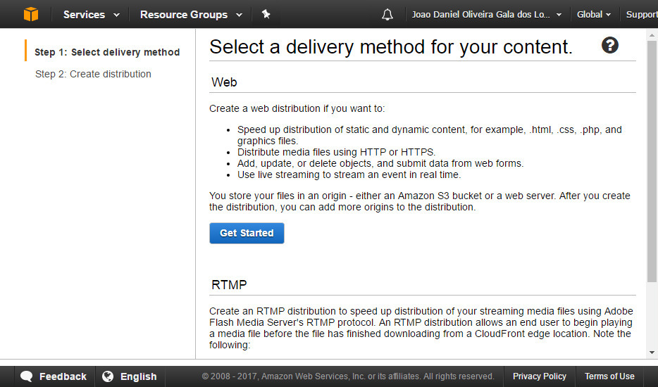 AWS CloudFront screenshot 2