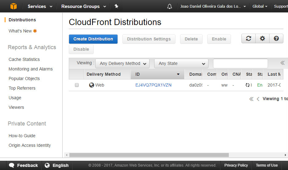 AWS CloudFront screenshot 8