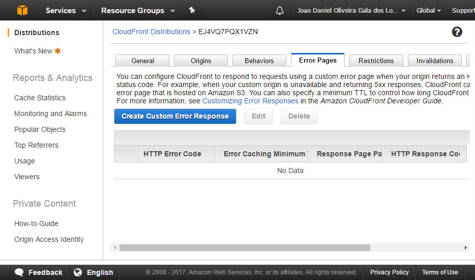 AWS CloudFront screenshot 9