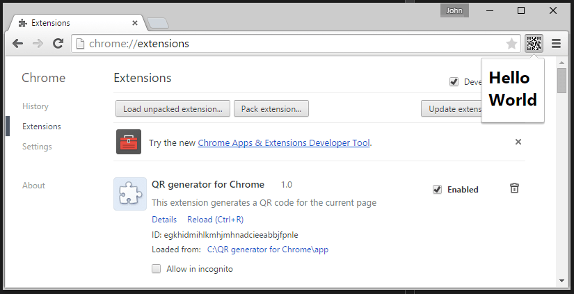 Creating a Chrome extension using Visual Studio Code | GoorooThink
