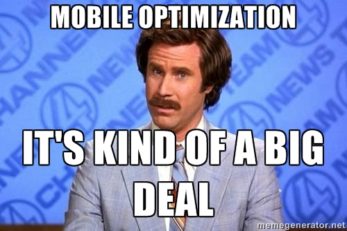 mobile optimization meme